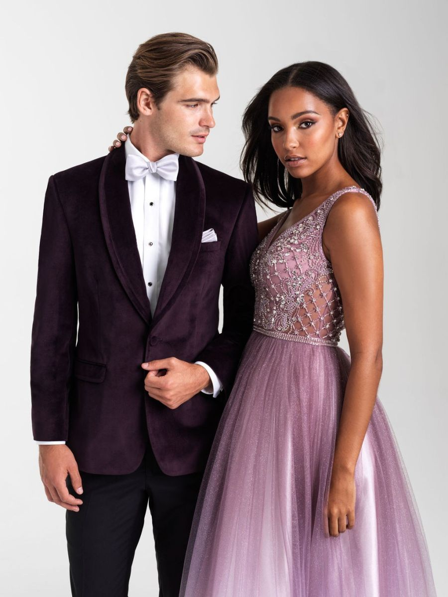 20 369 Dusty Rose Eggplant Tux